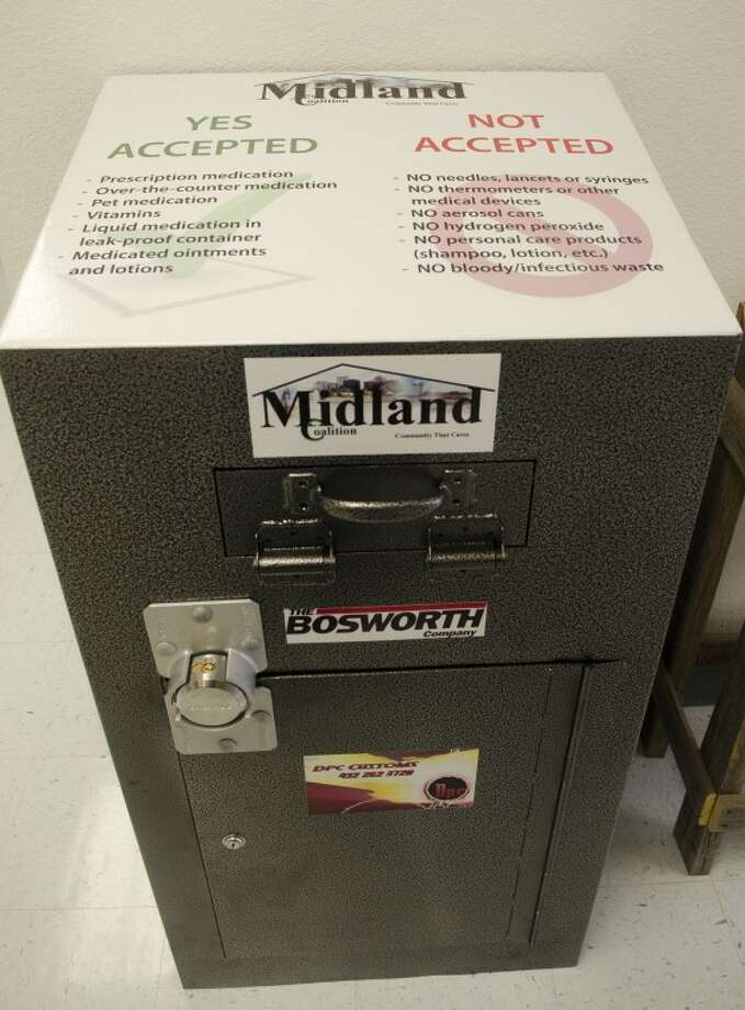 A new drop box for unused medication is located in the Midland County Sheriff's Office as well as one in Graham's Pharmacy. Photo by Tim Fischer\ Reporter-Telegram Photo: Tim Fischer
