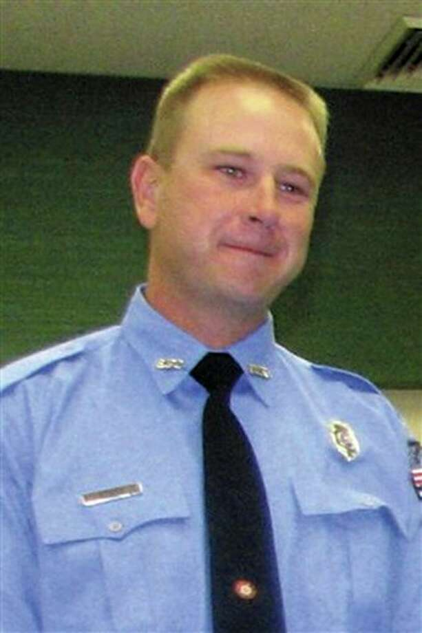 Brownwood Texas firefighter Shannon Stone is shown in this undated photo provided by the Brownwood Bulletin Friday, July 8, 20111. Stone tumbled over a railing and plunged 20 feet onto concrete at a Texas Rangers baseball game Thursday, July 7, 2011. The 39-year-old firefighter died at a hospital a short time later. (AP Photo/ Brownwood Bulletin) Photo: MBR / Brownwood Bulletin