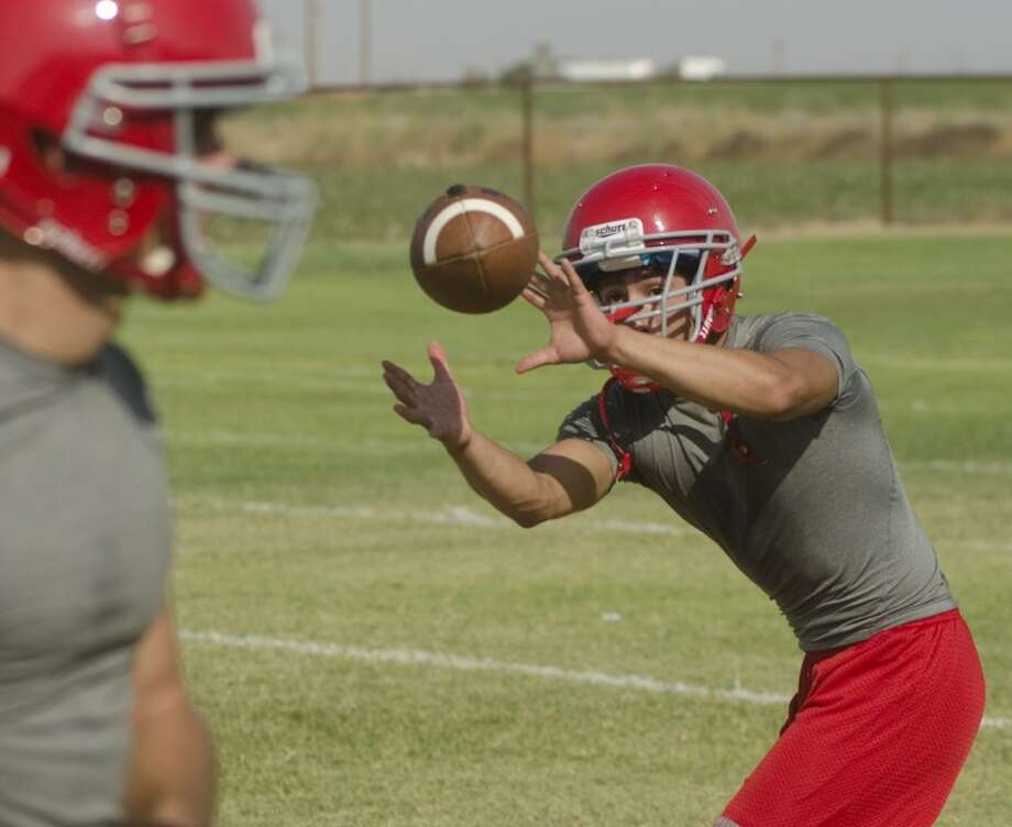 Stanton's Andres Chavez makes a catch Tuesday at practice. Photo by Tim Fischer\ Reporter-Telegram Photo: Tim Fischer