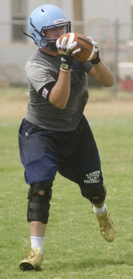 Greenwood's Call Carmichael runs drills Wednesday at practice. Photo by Tim Fischer\ Reporter-Telegram Photo: Tim Fischer