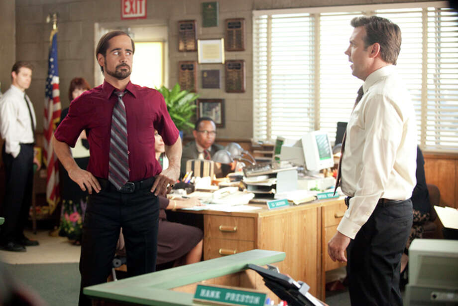 "In this film publicity image released by Warner Bros. Pictures, Colin Farrell, left, and Jason Sudeikis are shown in a scene from ""Horrible Bosses."" (AP Photo/Warner Bros. Pictures, John P. Johnson) Photo: John P. Johnson / © 2011 New Line Productions Inc."