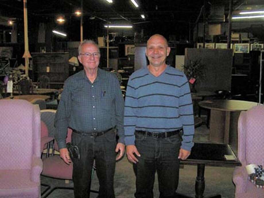 General Manager Steve Ausmus, left, and owner Harry Crawford, and Lola Crawford (not pictured) of A-1 Office Furniture can help you with office furniture of all types, new and used. They can also do your move for you. Call 570-9599 to learn more.