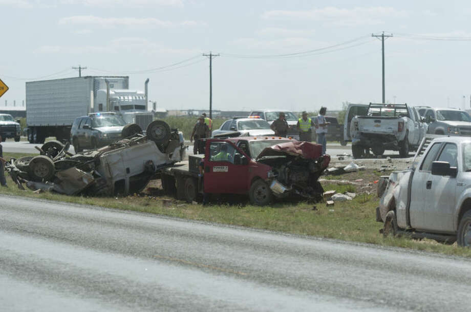 (File Photo) Four pickup trucks were involved in a rollover accident on eastbound I-20 Friday. James Durbin/Reporter-Telegram Photo: JAMES DURBIN