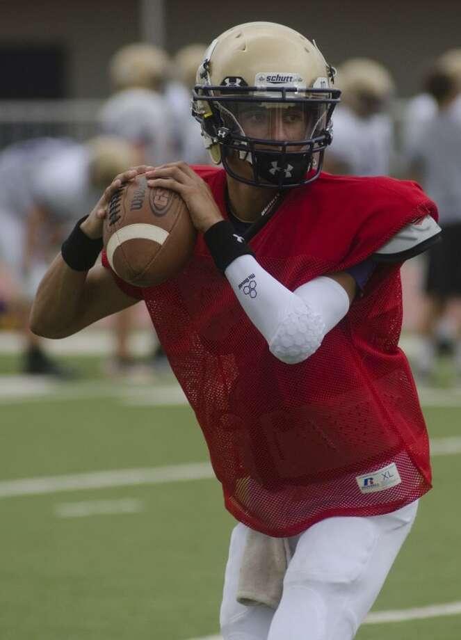 Midland High qb Joseph Perez warms up Aug. 17 at practice. Photo by Tim Fischer\ Reporter-Telegram Photo: Tim Fischer