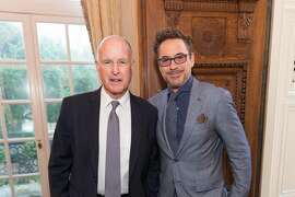 Jerry Brown and Robert Downey Jr.