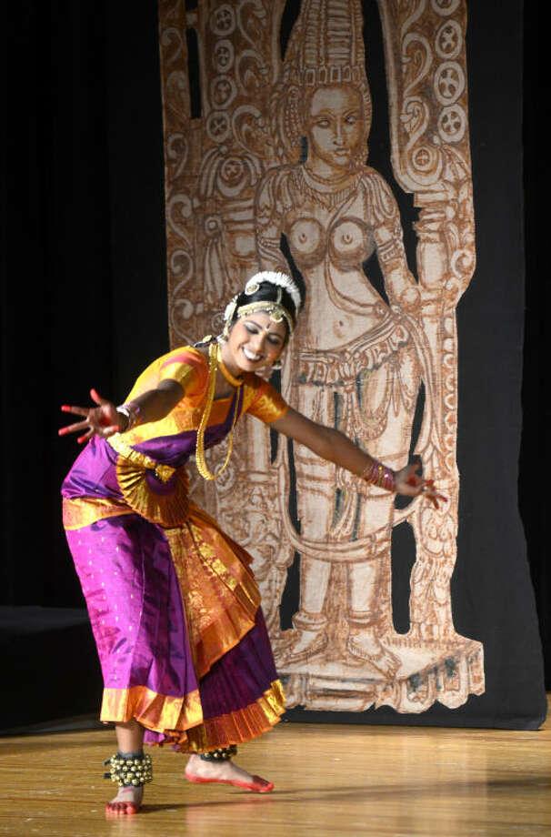 Ashika Angirekula performs during her dance graduation Saturday. James Durbin/Reporter-Telegram Photo: JAMES DURBIN