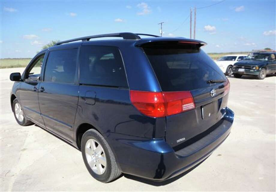 This undated photo provided by the Torres family who said they received the photo from Mexican authorities, shows their 2004 Toyota Sienna at an undisclosed location in the United States. Mexican police in November found cocaine beneath the dashboard of the 2004 Toyota Sienna at a highway checkpoint near the resort of Mazatlan. Two high-school students, who were in the Toyota, are fighting drug-trafficking charges in Mexico, saying the cocaine found in the 2004 Toyota Sienna had actually been there and unnoticed when it was sold to their family at a U.S. government auction. (AP Photo/Torres Family) Photo: Uncredited / AP2011