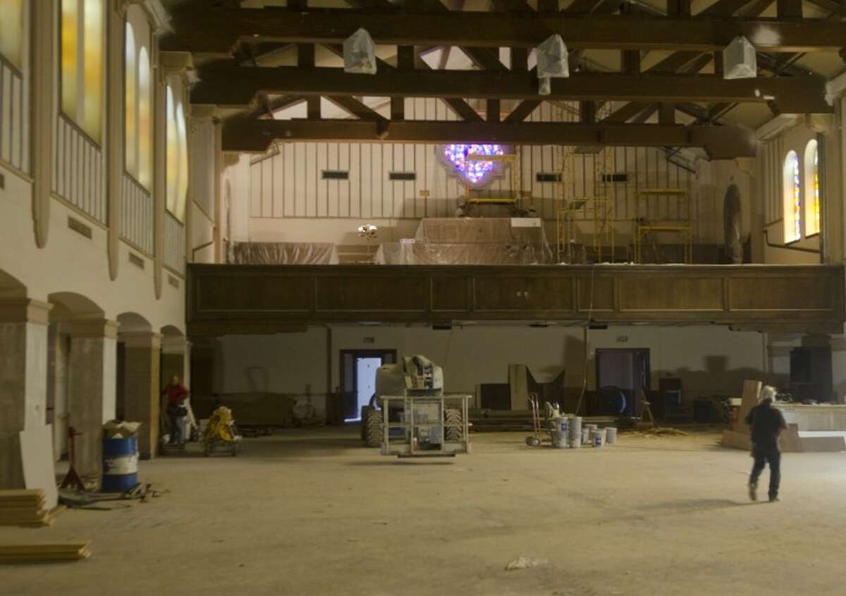 Work continues in the main sancuary expansion project at First Baptist Church. Photo by Tim Fischer\ Reporter-Telegram