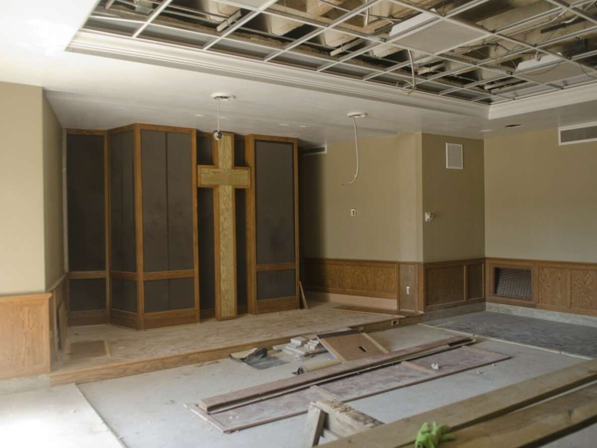 The new prayer room and small chapel will be completed in the expansion of First Baptist Church. Photo by Tim Fischer\ Reporter-Telegram