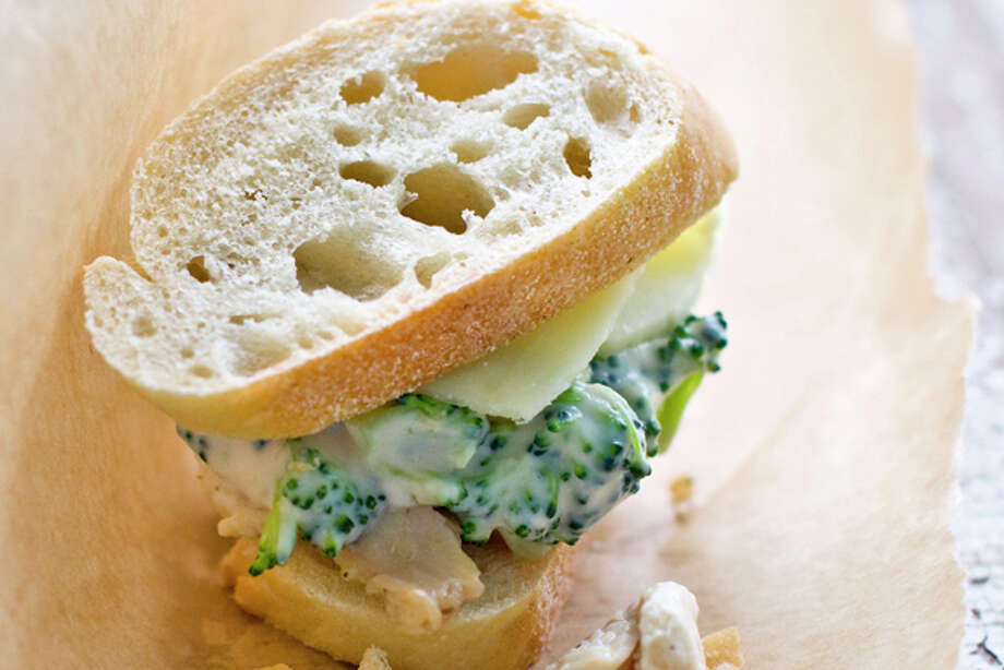 This July 11, 2011 photo shows a chicken and broccoli Alfredo slider in Concord, N.H. Lunch box sandwiches don't have to default to ham and cheese or peanut butter and jelly. (AP Photo/Matthew Mead) Photo: Matthew Mead / ap