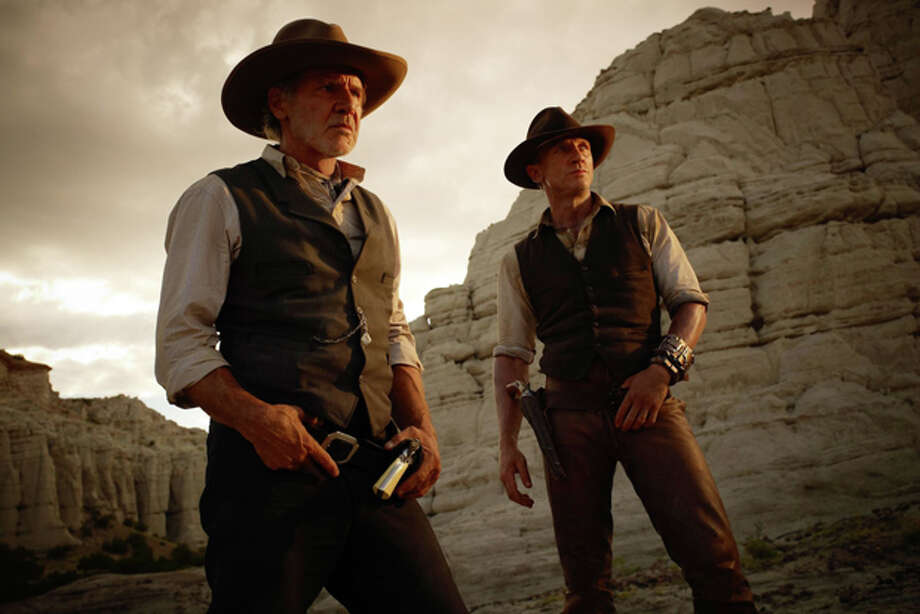 Harrison Ford and Daniel Craig costar in 'Cowboys vs. Aliens,' in theaters July 29. Photo: Universal Studios/Dreamworks / 2011 Universal Studios