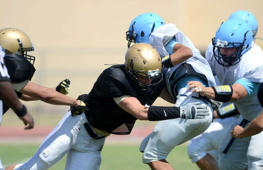 Andrews vs Greenwood scrimmage Saturday at Greenwood. James Durbin/Reporter-Telegram Photo: JAMES DURBIN