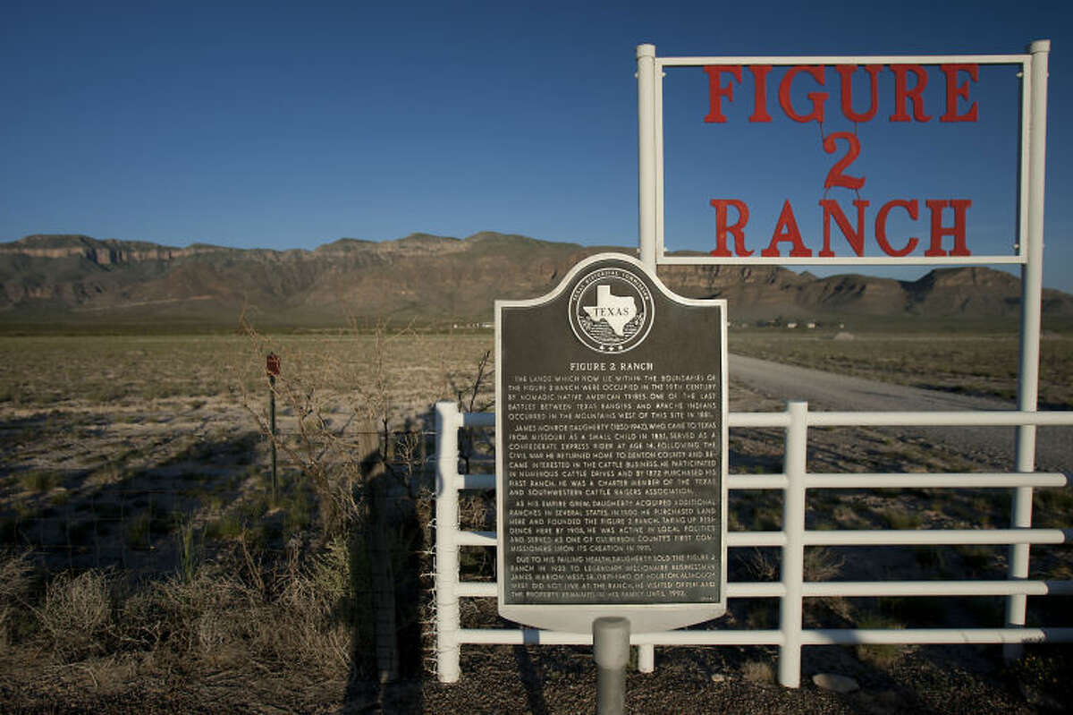 A view of the Figure 2 Ranch Sierra Diablo mountain range land owned by Amazon.Com founder Jeff Bezos where the 10,000 Year Clock is being constructed deep inside the mountain Monday, Aug. 12, 2013, in Van Horn. ( James Nielsen / Houston Chronicle )