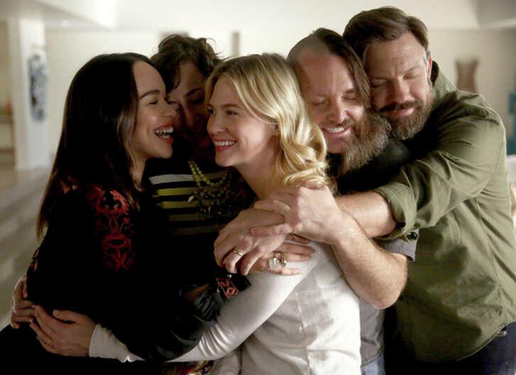 """Cleopatra Coleman, Kristen Schaal, January Jones, Will Forte,Jason Sudeikis in """"Last Man on Earth."""""""