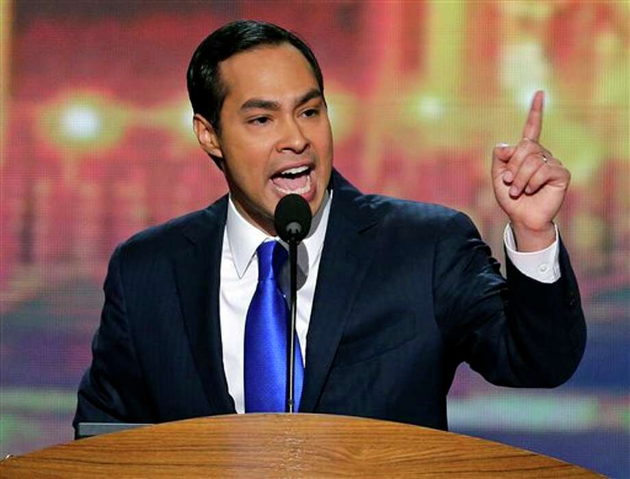 San Antonio Mayor Julian Castro addresses the Democratic National Convention in Charlotte, N.C., on Tuesday, Sept. 4, 2012. (AP Photo/J. Scott Applewhite) Photo: J. Scott Applewhite / AP2012