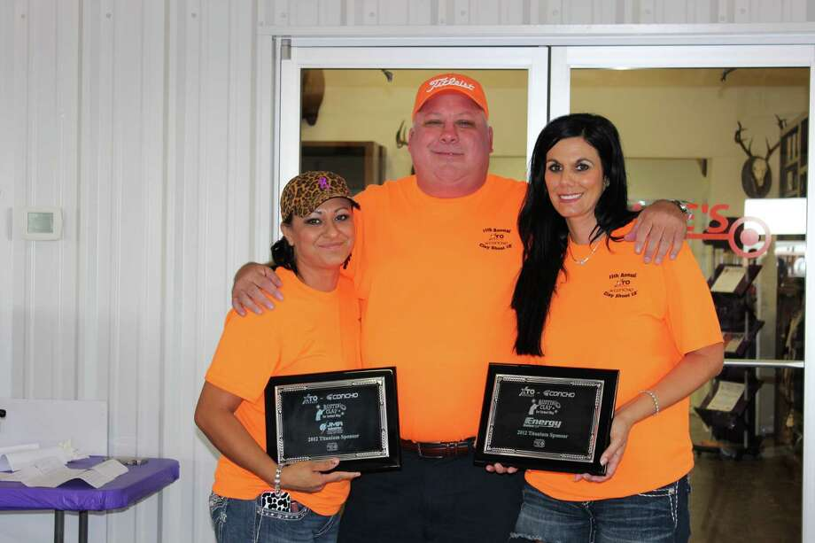 Sporting clays: Marcela Munoz, from left, Jimmy Roark, Kendall Chance