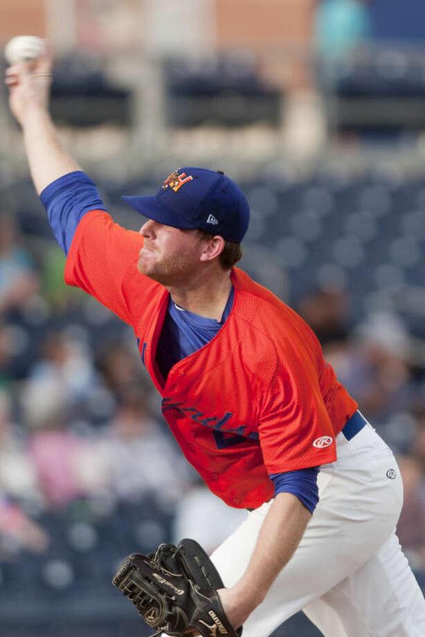 RockHounds pitcher Sean Murphy throws against Corpus Christi Thursday at Citibank Ballpark. James Durbin/Reporter-Telegram