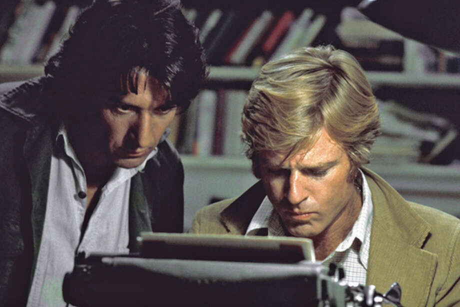 "In this file photo provided by Warner Bros., actors Robert Redford, right, and Dustin Hoffman appear in their roles as reporters Bob Woodward and Carl Bernstein, respectively, in the 1976 film ""All the President's Men."" (AP Photo/Warner Bros., file) Photo: Warner Bros. / AP2006"