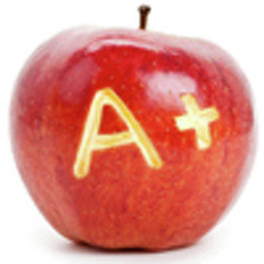 Red apple and A Plus sign / iStockphoto