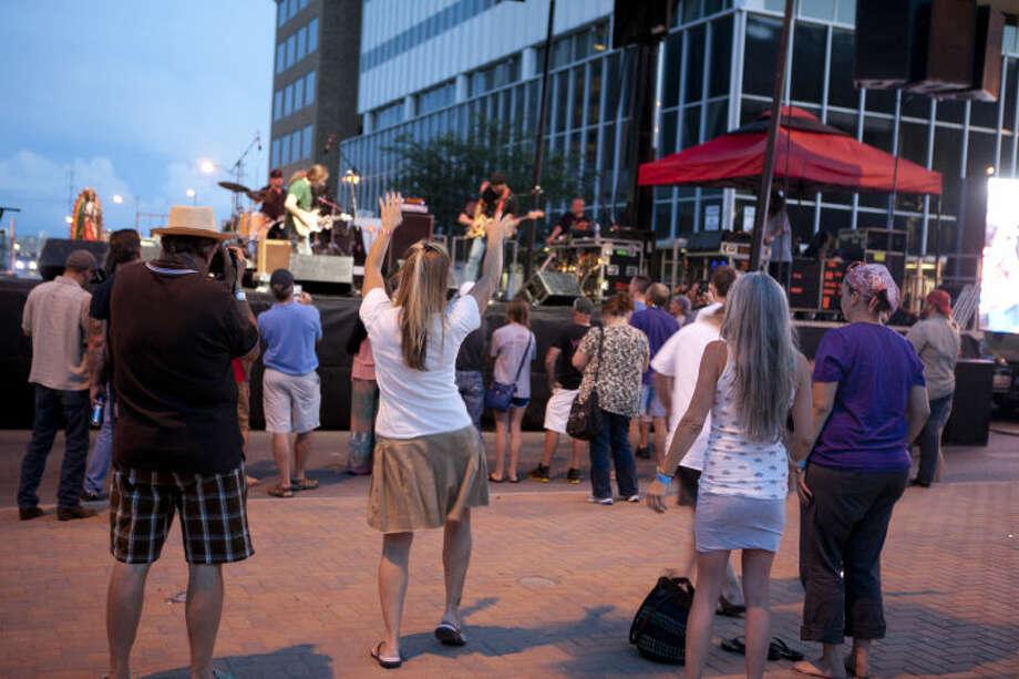 Tall City Blues Fest on Friday at Centennial Plaza. James Durbin/Reporter-Telegram Photo: JAMES DURBIN