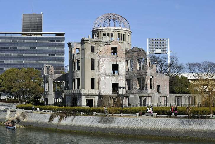 (FILES) This file picture taken on February 7, 2010 shows the Atomic Bomb Dome at the Peace Memoral Park in Hiroshima.  US President Barack Obama will become the first US president to visit atomic bomb-struck Hiroshima during a trip to Hiroshima later this month, the White House said May 10, 2016. / AFP PHOTO / KAZUHIRO NOGIKAZUHIRO NOGI/AFP/Getty Images