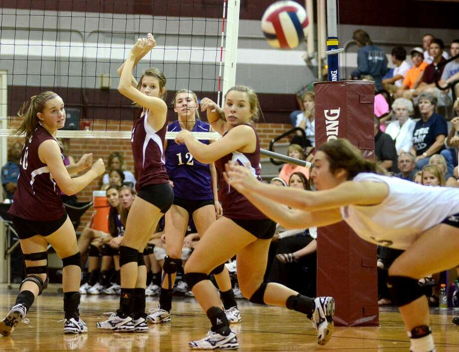 Midland Lee High School defenders let a hit from the Midland High School offense slip past them to score during a match Monday at Lee High. James Durbin/Reporter-Telegram Photo: JAMES DURBIN