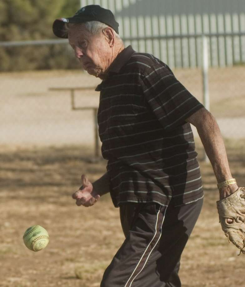 Boyd Reese was a world champion softball pitcher in the 1940s, '50s and '60s. At age 83 he continues to coach girls. Photo: Tim Fischer/Reporter-Telegram