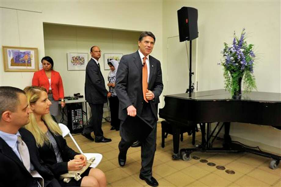 Texas Gov. Rick Perry File Photo. Photo: Jason Rearick / Stamford Advocate