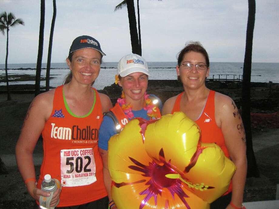 Jodie Delay, Leigh Stein, Robin Kingham in Kona, Hawaii Photo: Courtesy Photo