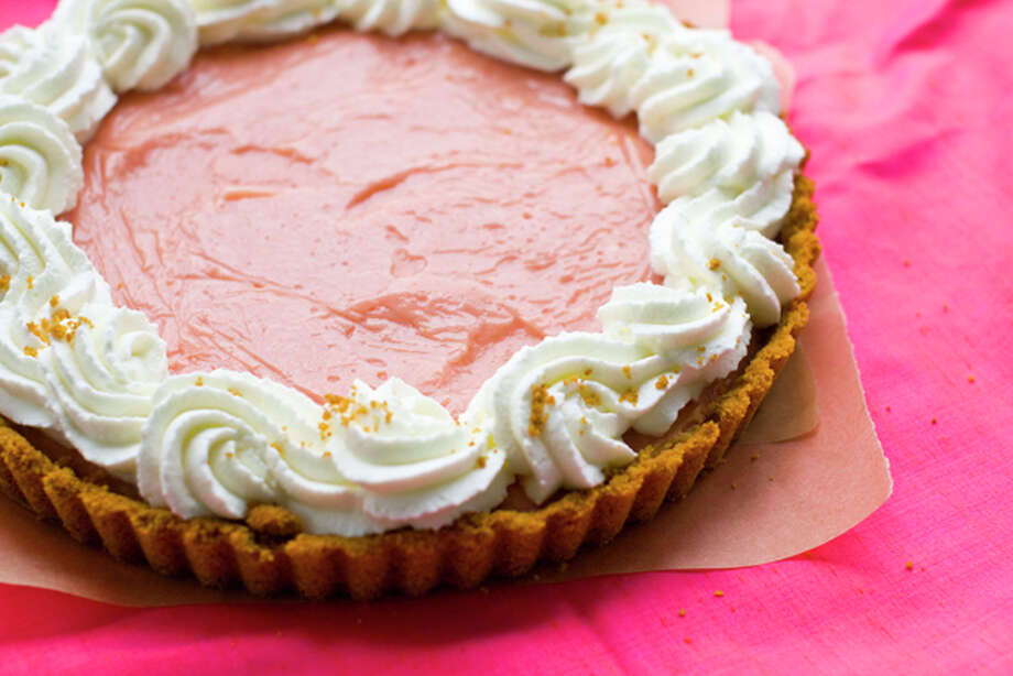 This July 18, 2011 photo shows a watermelon pudding tart in Concord, N.H. Serve this tart with plenty of whipped cream. (AP Photo/Matthew Mead) Photo: Matthew Mead / ap
