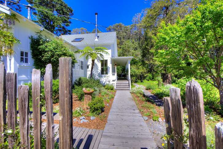 The three bedroom, one bathroom farmhouse at 104 Terrace Ave. in Bolinas dates back to 1880.�