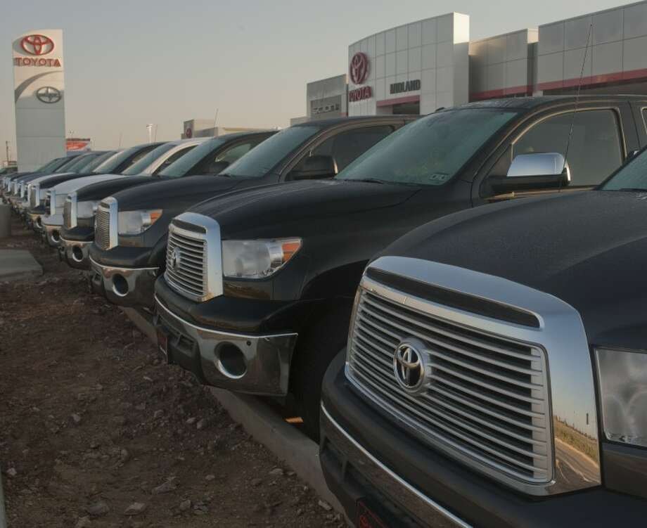 Toyota's new dealership on Loop 250 is stocked and ready for business. Tim Fischer/Reporter-Telegram Photo: Tim Fischer