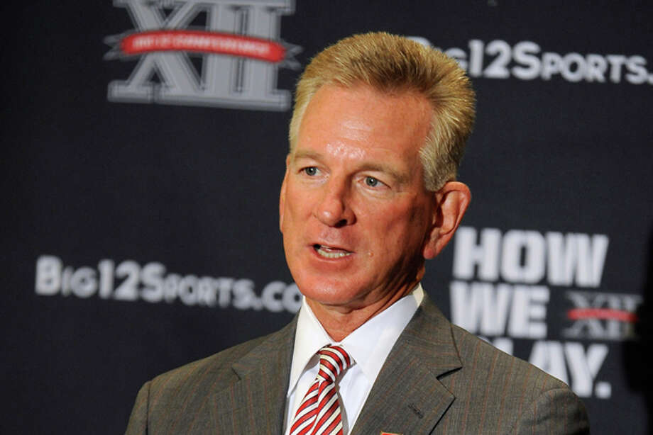 Texas Tech head coach Tommy Tubberville answers questions during NCAA college football Big 12 Media Days, Tuesday, July 26, 2011, in Dallas. (AP Photo/Matt Strasen) Photo: Matt Strasen / FR170476 AP