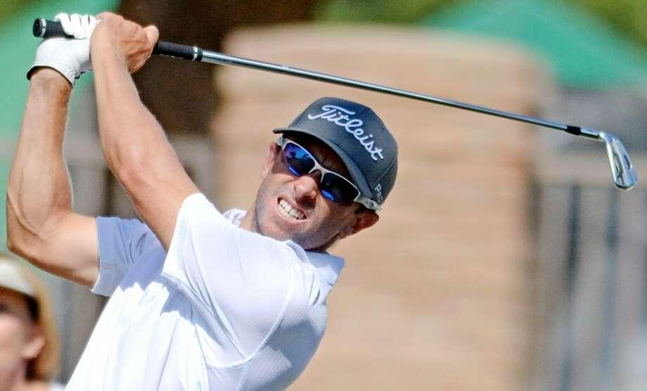 Tim Wilkinson tees off during the WNB Golf Classic Saturday at Midland Country Club. James Durbin/Reporter-Telegram Photo: JAMES DURBIN