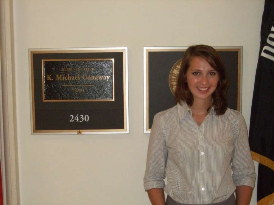 Midlander Christine Folger is an intern in U.S. Rep. Mike Conaway's Washington office.