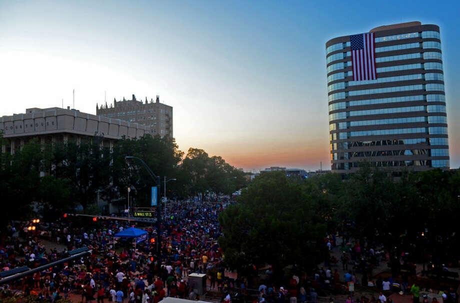 General view of the Star-spangled Salute festival Thursday in downtown Midland. James Durbin/Reporter-Telegram Photo: JAMES DURBIN