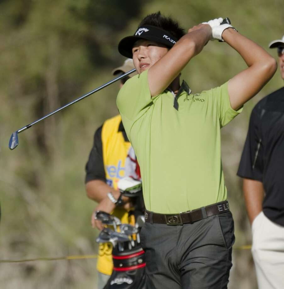Danny Lee watches his tee shot Thursday at the Web.com WNB Golf Classic at Midland Country Club. Tim Fischer/Reporter-Telegram Photo: Tim Fischer