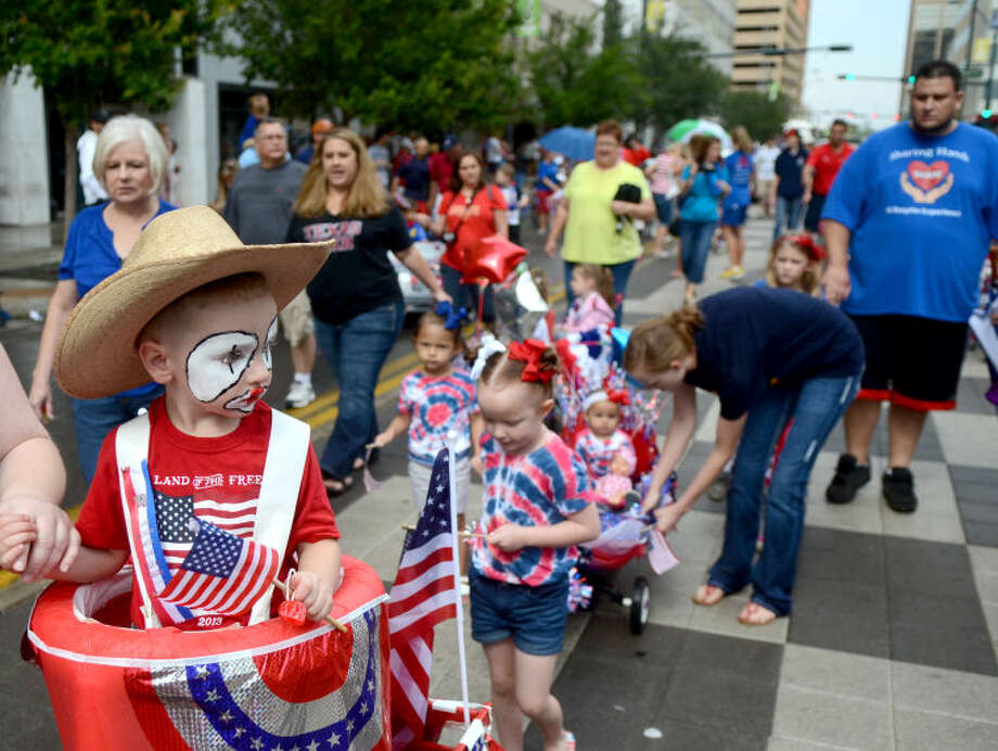July 4 Kid's Parade Thursday in downtown Midland. James Durbin/Reporter-Telegram Photo: JAMES DURBIN