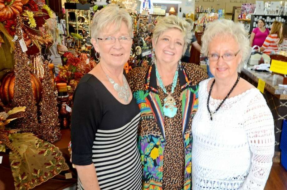 From left, Becky Phillips, Beverly Vaughan and Donna Sawyer founded the Ivy Cottage 18 years ago. James Durbin/Reporter-Telegram Photo: JAMES DURBIN