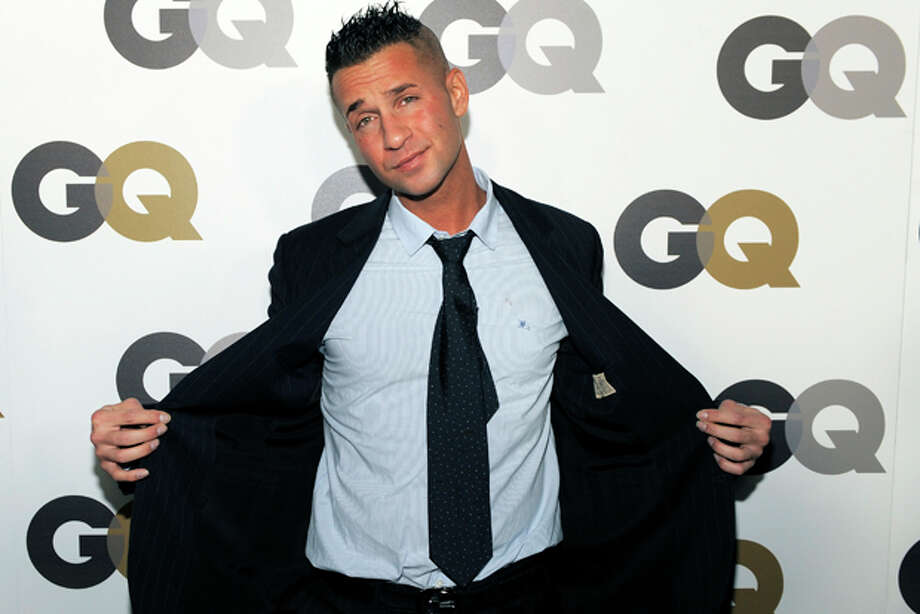 "FILE - In this Nov. 17, 2010 photo, Mike ""The Situation"" Sorrentino poses at GQ magazine's 2010 ""Men of the Year"" party in Los Angeles. Abercrombie & Fitch Co. is offering money to Mike ""The Situation"" Sorrentino and his fellow ""Jersey Shore"" cast members — so they'll stop wearing the brand on the show. The clothing company says in a news release posted Tuesday, Aug. 16, 2011, that it's concerned that having Sorrentino seen in its clothing could cause ""significant damage"" to the company's image. The Ohio-based retailer says it has offered a ""substantial payment"" to Sorrentino and producers of the MTV show so he'll wear something else. (AP Photo/Chris Pizzello) Photo: Chris Pizzello / AP2010"
