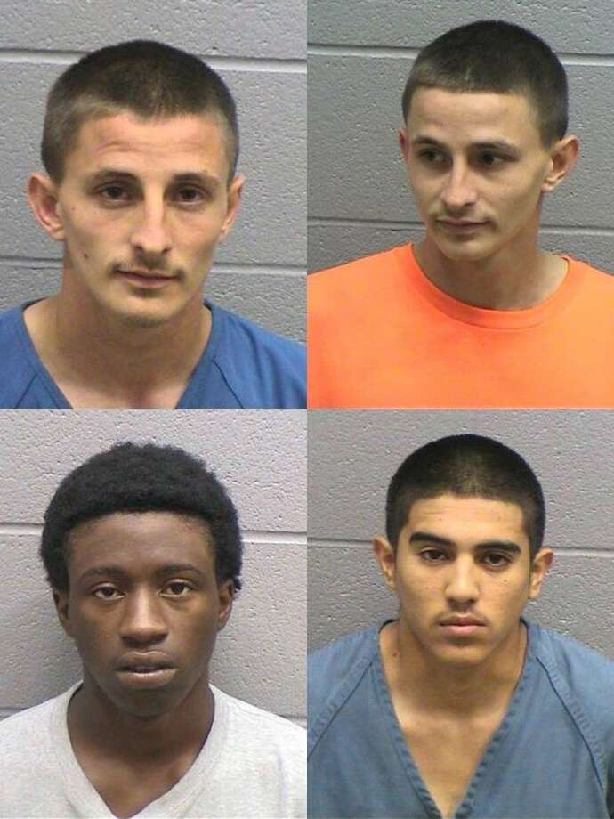 Hunter M. Duggan, 17, of Midland, on top left, was arrested June 9 on a third-degree felony charge of possession of a prohibited substance in a corrections facility, a state felony charge of evading arrest or detention with a vehicle, a class A misdemeanor charge of possession of a dangerous drug, class B misdemeanor of possession of marijuana less than 1 ounce and three counts of a class A misdemeanor charge of assault causing bodily injury. Brock C. Duggan, 17, of Midland, on top right, was arrested June 9 on a misdemeanor charge of evading arrest or detention and two misdemeanor charges of assault causing bodily injury. The affidavit does not indicate if the Duggans are related. Robert E. Harmon, 18, of Midland, on bottom left, was arrested June 9 on misdemeanor charges of evading arrest or detention and assault causing bodily injury. Javier Sanchez Jr., 17, of Midland, on bottom right, was arrested June 9 on a misdemeanor charge of evading arrest or detention. The suspects were involved in an assault on a manager at the Whataburger on North Big Spring Street. The suspects fled the scene, but officers later found and arrested them. Hunter Duggan was found with five bags of marijuana on his person at the jail, according to the arrest report.If convicted, the suspects could face up to 10 years in prison for third degree felony charges, up to two years for state felony charges and up to one year for class A misdemeanor charges.