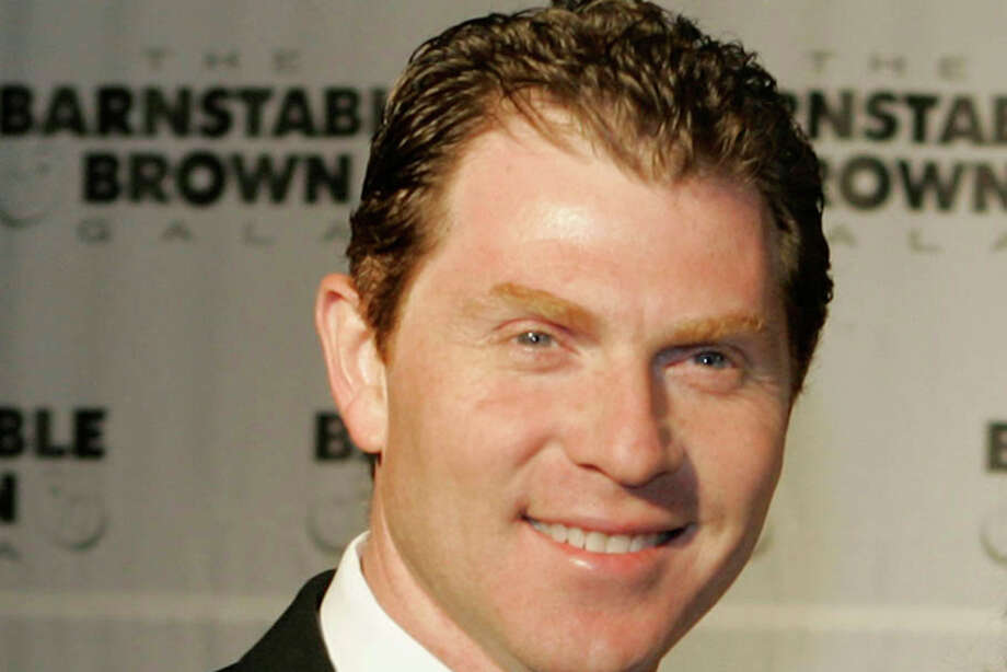"FILE- In this May 2, 2008 file photo Bobby Flay arrives at the Barnstable Brown Derby party in Louisville, Ky. For the AP's 20 Salads of Summer series, Flay offered a chopped salad with asparagus and Meyer lemon dressing from his upcoming cookbook, ""Bobby Flay's Bar Americain Cookbook."" (AP Photo/Darron Cummings, file) Photo: Darron Cummings / AP2008"