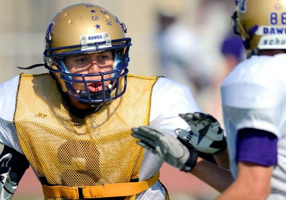 Midland High reciever/safety Phillip Fuentes during practice Wednesday at Memorial Stadium. James Durbin/Reporter-Telegram Photo: JAMES DURBIN