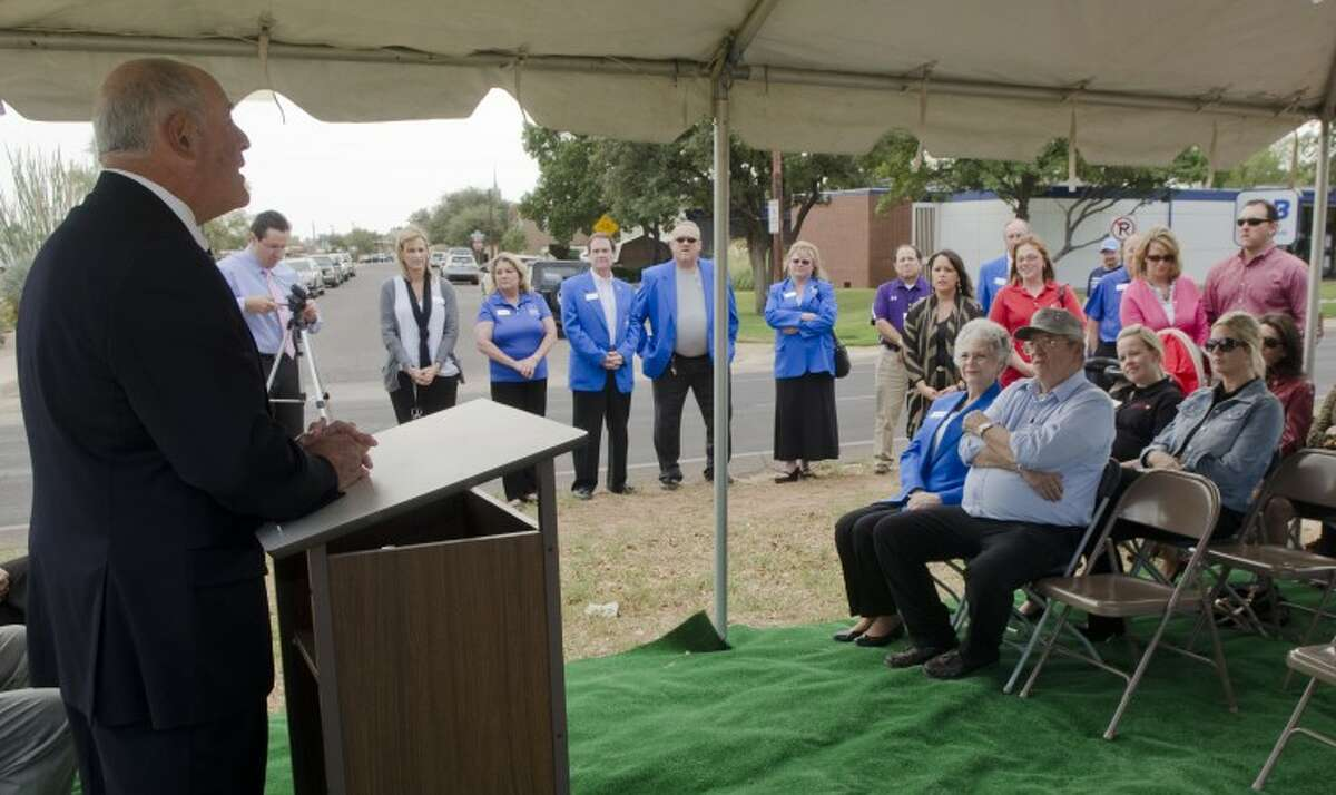 (File) Senator Kel Seliger speaks Thursday at the groundbreaking ceremony of a new Big Brothers and Big Sisters building on Louisana. Photo by Tim Fischer/Midland Reporter-Telegram