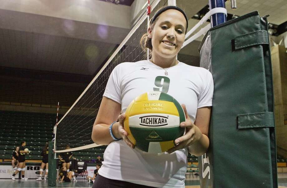 Sophomore middle blocker Sarah Sawyer is expected to be a key player for the eighth ranked Midland College volleyball team this season. Cindeka Nealy/Reporter-Telegram Photo: Cindeka Nealy