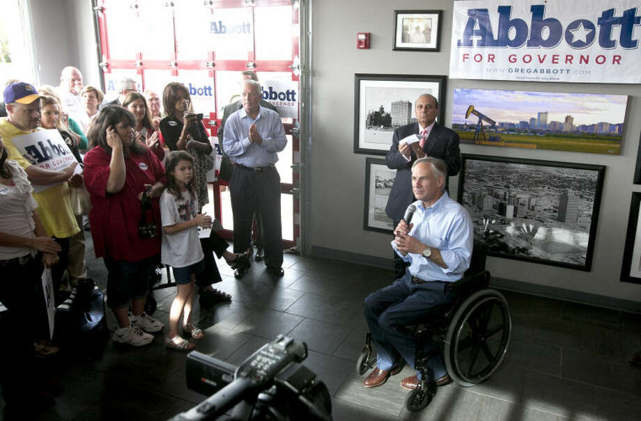 Attorney General Greg Abbott speaks during a press conference Wednesday at Basin Burger House where he announced his intention to run for Governor of Texas. James Durbin/Reporter-Telegram Photo: JAMES DURBIN