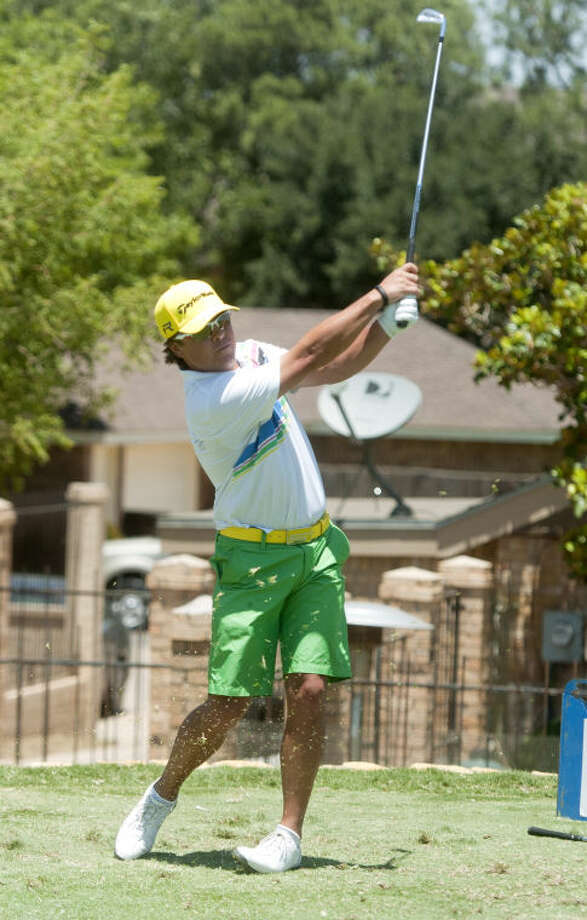 Shawn Savage tees off during day 2 of the Green Tree Jamboree Saturday at Green Tree Country Club. James Durbin/Reporter-Telegram Photo: JAMES DURBIN