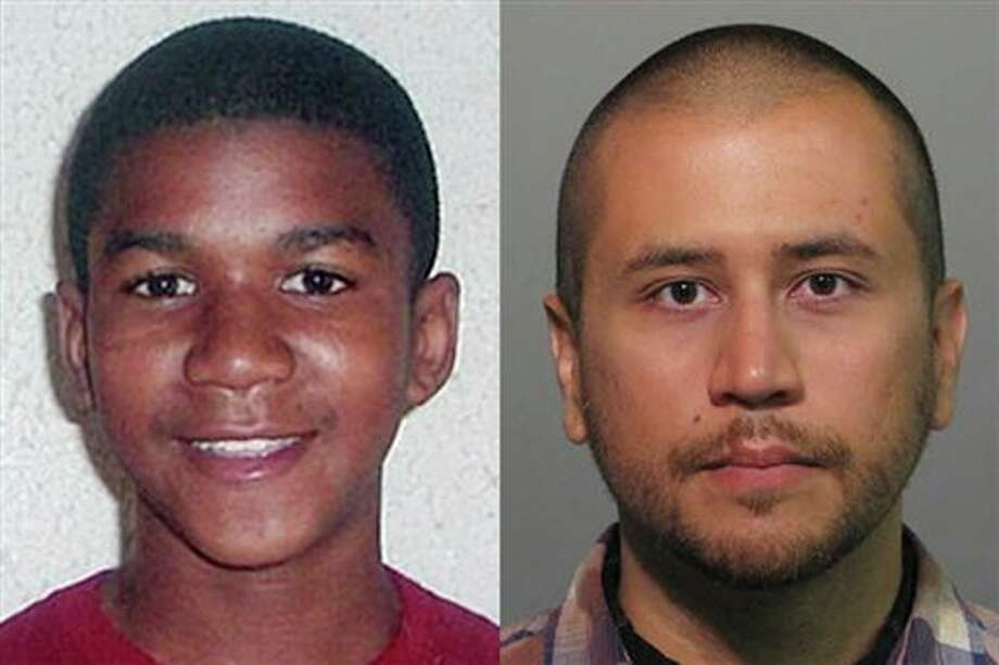 FILE -This combo image made from file photos shows Trayvon Martin, left, and George Zimmerman. On Saturday, July 13, 2013, jurors found Zimmerman not guilty of second-degree murder in the fatal shooting of 17-year-old Martin in Sanford, Fla. The six-member, all-woman jury deliberated for more than 15 hours over two days before reaching their decision Saturday night. (AP Photos, File) Photo: Uncredited / Family/Orlando Sentinel