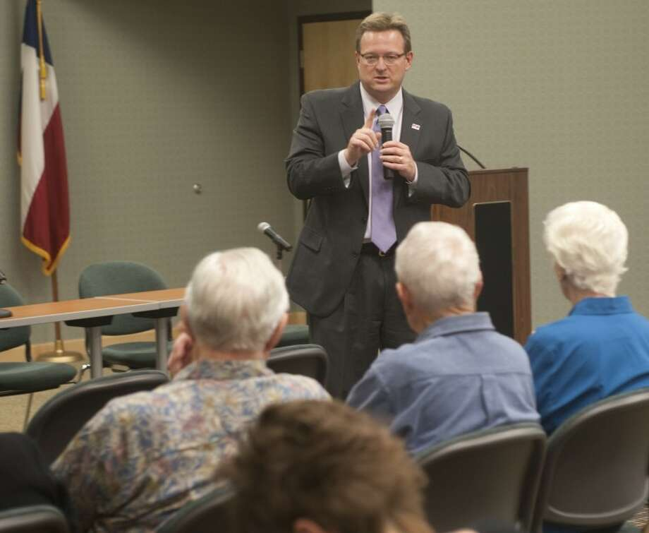 (File Photo) MISD Superintendent Ryder Warren speaks Tuesday evening at the League of Women Voters informational meeting on the MISD bond issue. Warren gave background information about the school system and stated the needs of the district. Tim Fischer\Reporter-Telegram Photo: Tim Fischer
