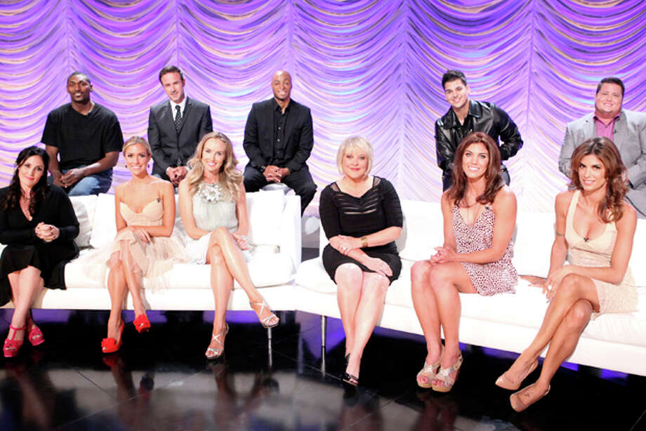 BACK ROW FROM LEFT:  NBA player Ron Artest, actor David Arquette, actor and Iraq War veteran J.R. Martinez, TV personality Rob Kardashian, activist Chaz Bono.SEATED FROM LEFT: TV personalities Ricki Lake, Kristin Cavallari, singer Chynna Phillips, TV host Nancy Grace, Soccer player Hope Solo and Italian personality Elisabetta Canalis. Photo: Adam Taylor/ABC / © 2011 American Broadcasting Companies, Inc. All rights reserved.